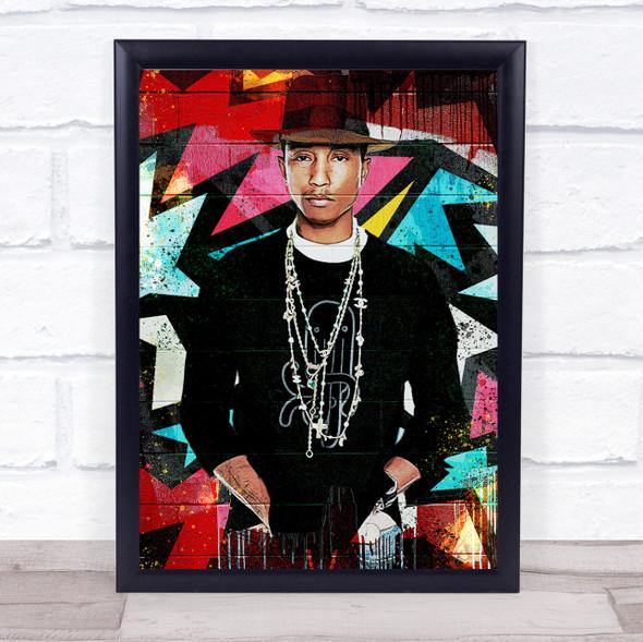 Pharrell Williams Urban Wall Art Print