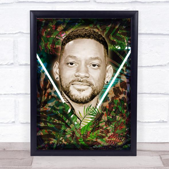 Will Smith Neon Jungle Wall Art Print