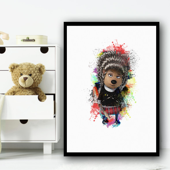 Ash The Hedgehog Sonic Wall Art Print