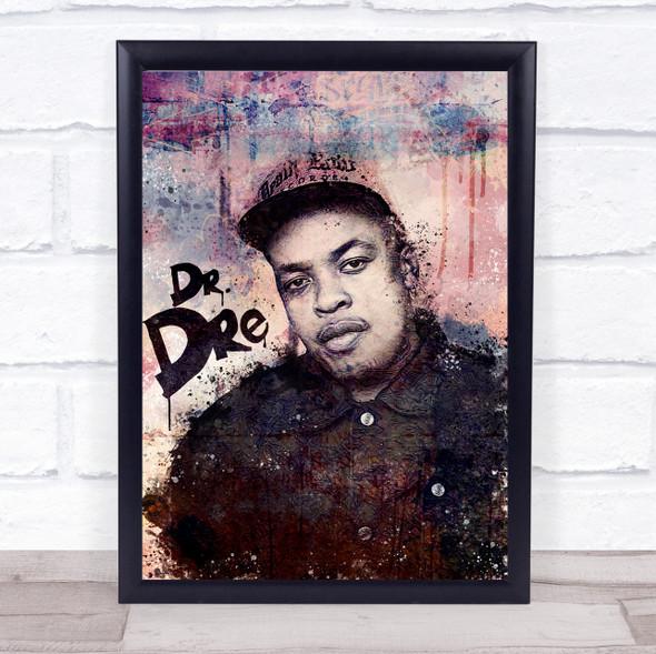 Dr. Dre Urban Splatter Wall Art Print