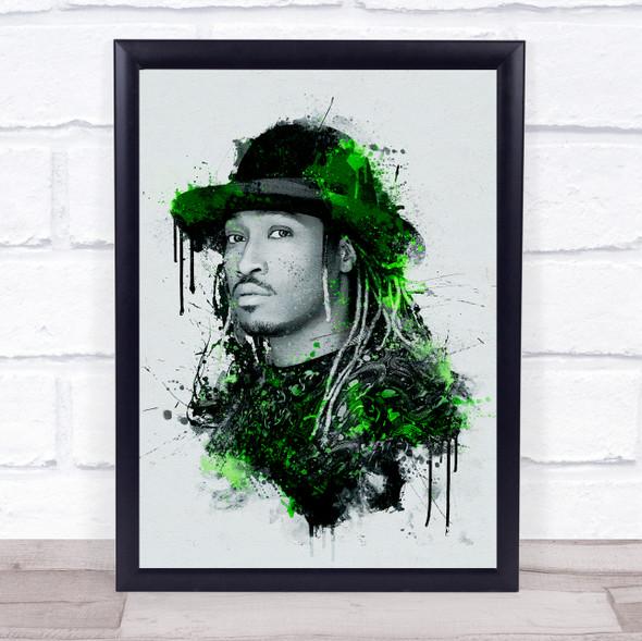 Future Rapper Splatter Wall Art Print