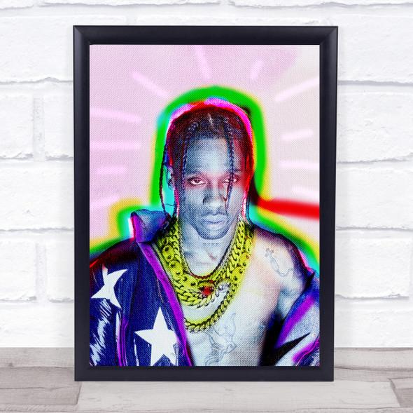 Travis Scott Colourful Wall Art Print