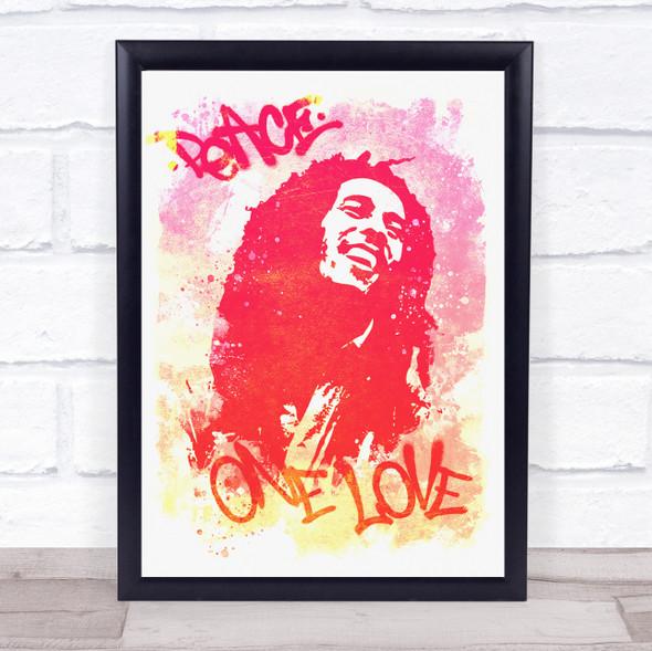Bob Marley Peace Pink Wall Art Print