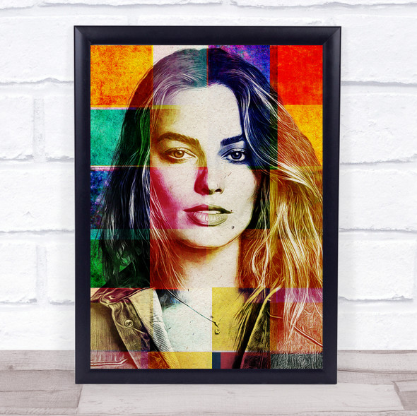 Margot Robbie Pop Art Wall Art Print