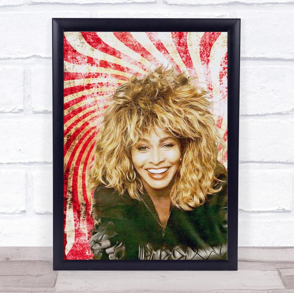 Tina Turner Red Retro Wall Art Print