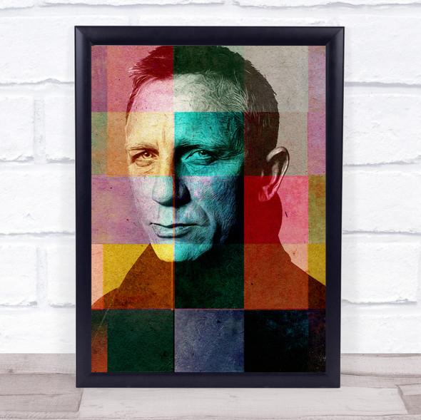 Daniel Craig Pop Art Wall Art Print