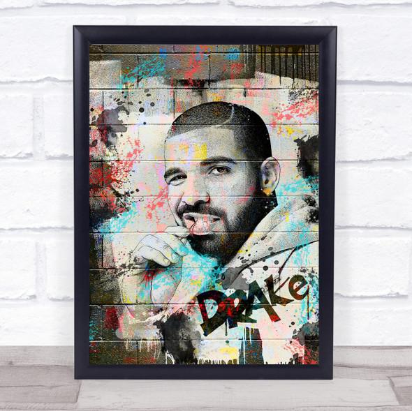 Drake Urban Graffiti Wall Art Print