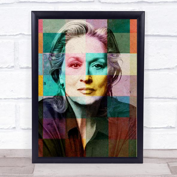Meryl Streep Pop Art Wall Art Print