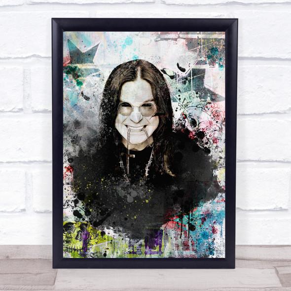 Ozzy Osbourne Grunge Wall Art Print