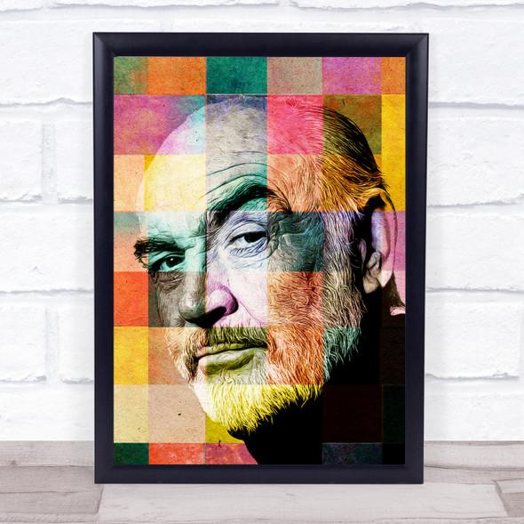 Sean Connery Pop Art Wall Art Print