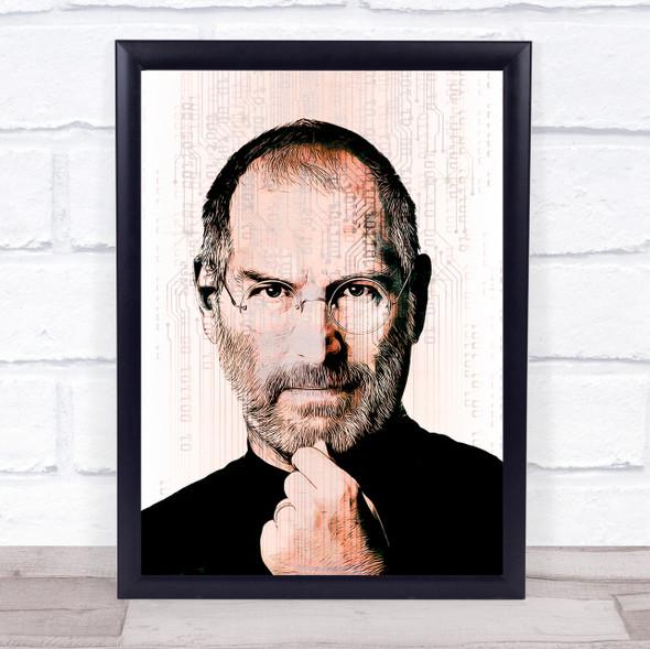 Steve Jobs Fade Tech Wall Art Print