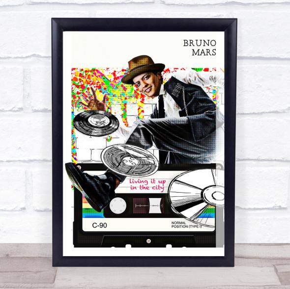 Bruno Mars Pop Art Wall Art Print