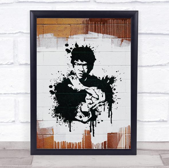Bruce Lee Splatter Wall Art Print