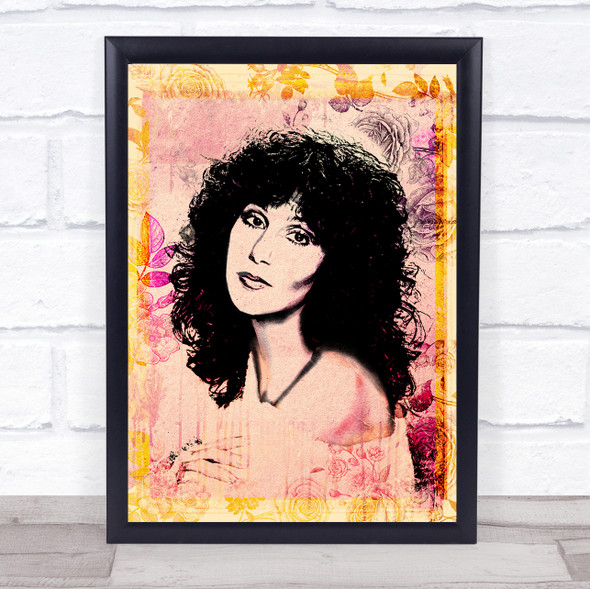 Cher Floral Yellow Wall Art Print