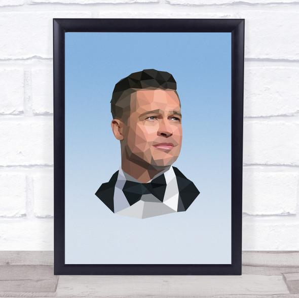 Brad Pitt Polygon Wall Art Print