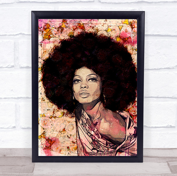 Diana Ross Floral Wall Art Print