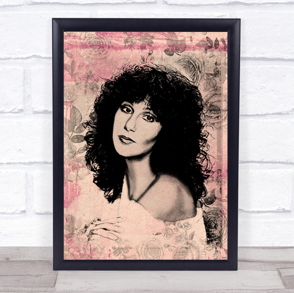 Cher Floral Pink Wall Art Print