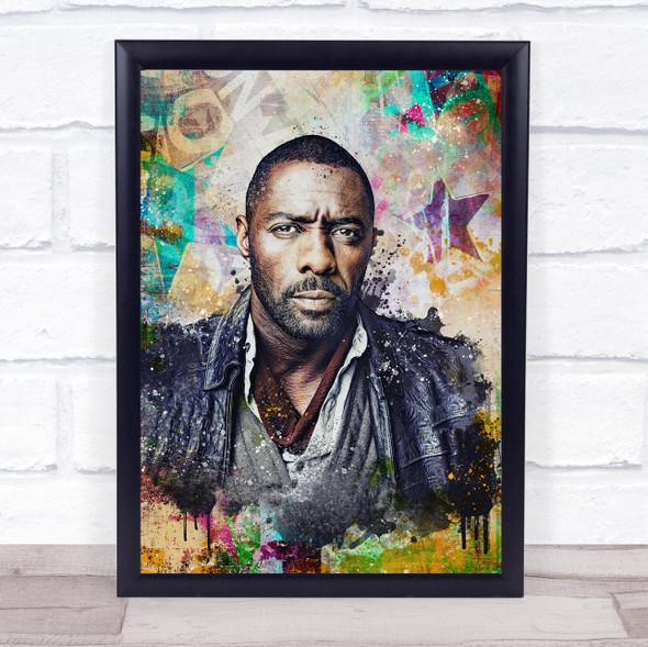 Idris Elba Urban Wall Art Print