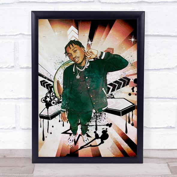 Lil Tjay Retro Wall Art Print