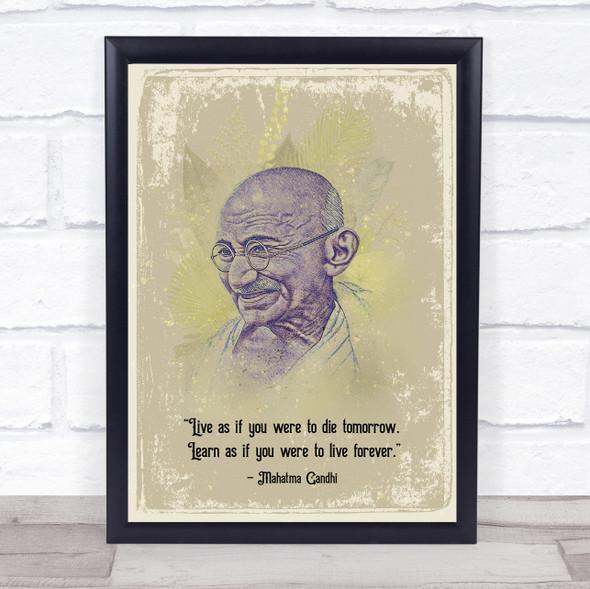 Gandhi Quote Wall Art Print
