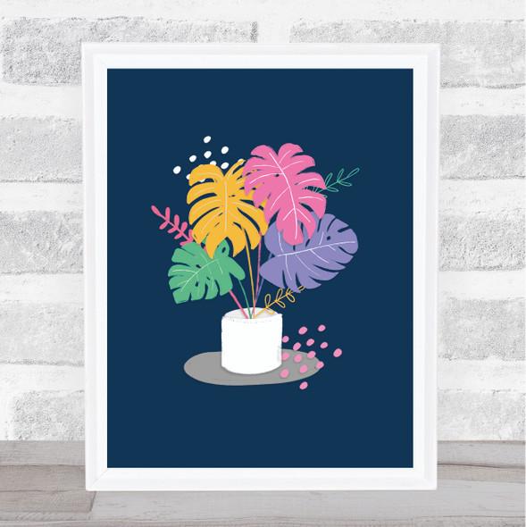 Monstera Plant Modern Bright Wall Art Print