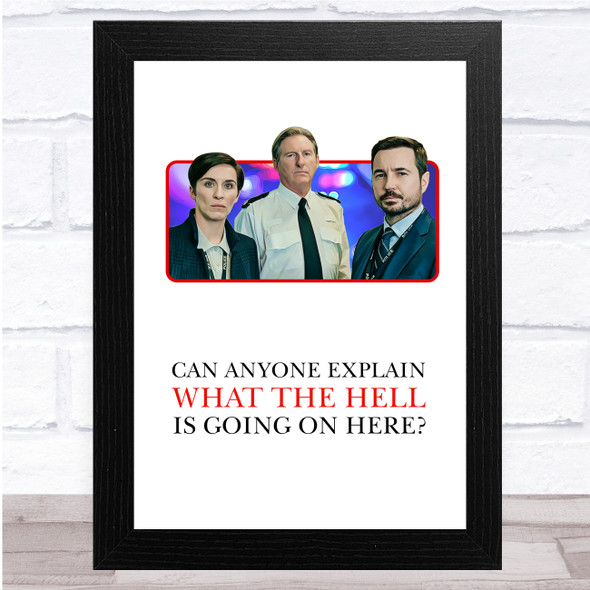 Line Of Duty Characters Can Anyone Explain What Is Going On Here Wall Art Print