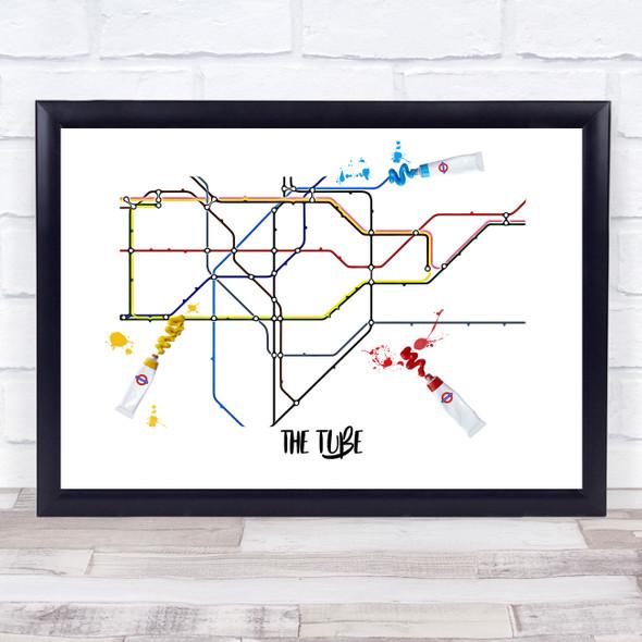 The Tube Paint Tubes Squidge Wall Art Print