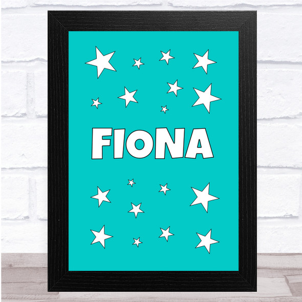 Blue Star Cluster Name Personalised Wall Art Print