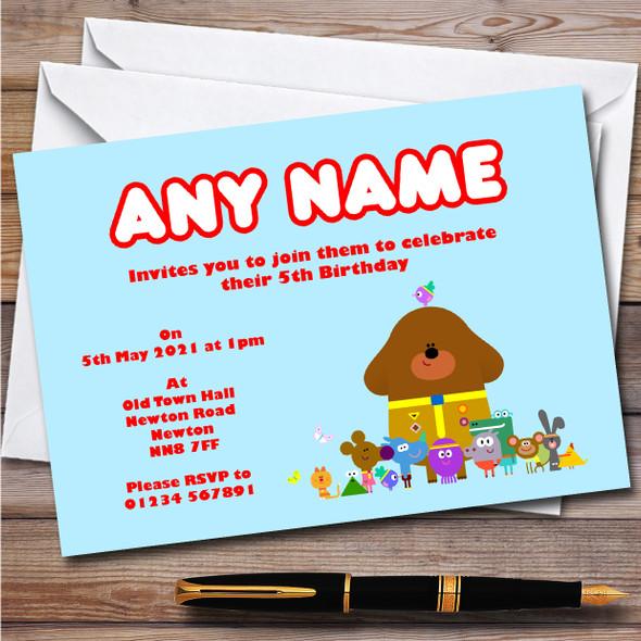 Hey Duggee Hey Children's Kids Personalised Birthday Party Invitations