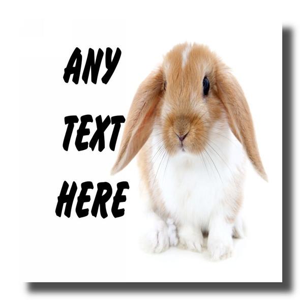 Bunny Rabbit Personalised Drinks Mat Coaster