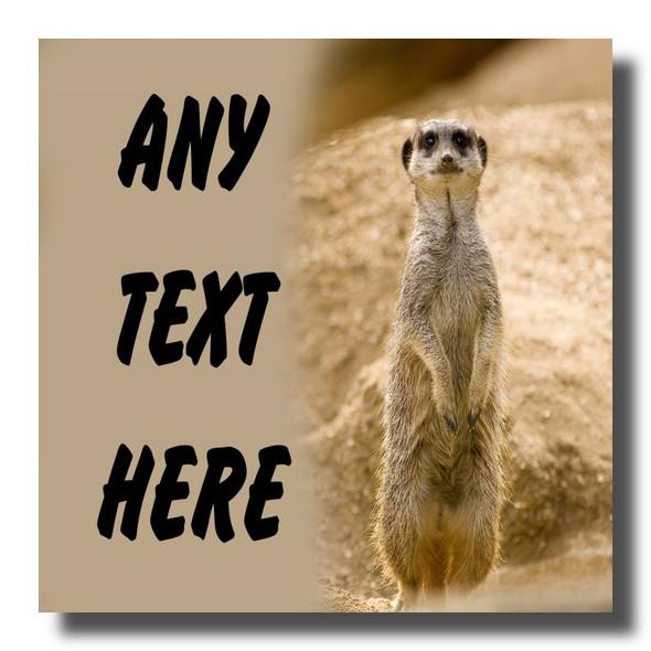 Meerkat Personalised Drinks Mat Coaster