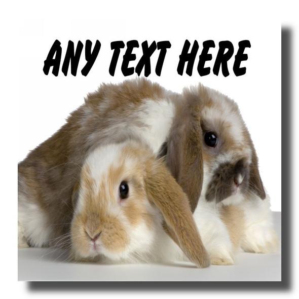 Rabbits Personalised Drinks Mat Coaster