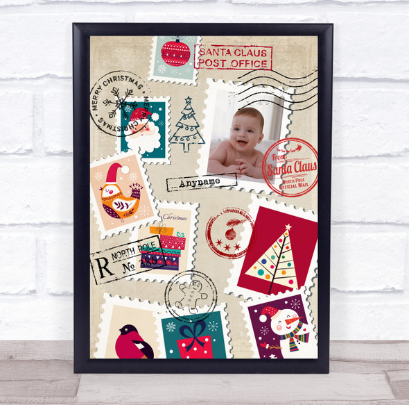 Personalised Photo Santa's Post Office Christmas Event Sign Print