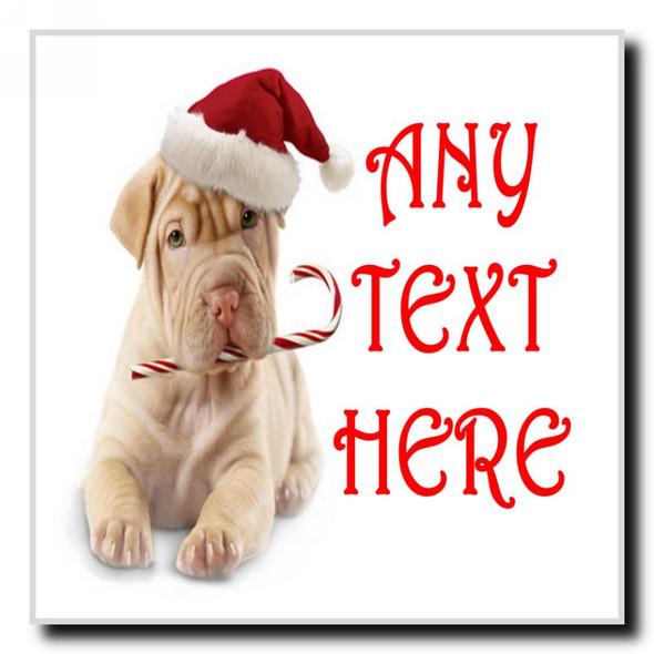 Stunning Dog Christmas Personalised Drinks Mat Coaster