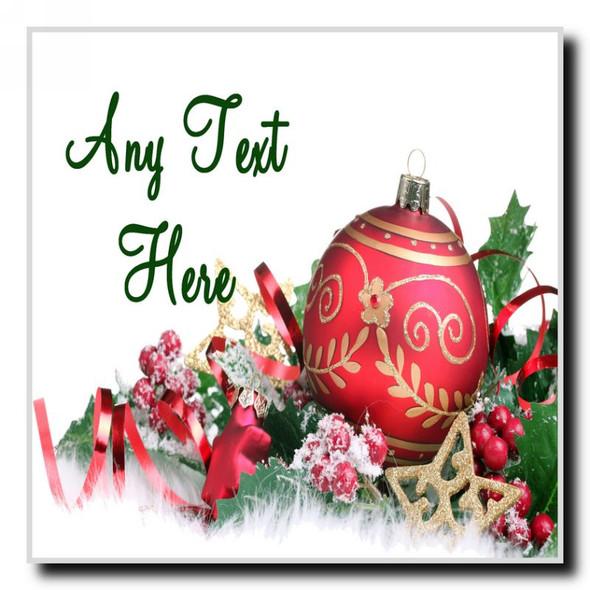 Xmas Decs Christmas Personalised Drinks Mat Coaster