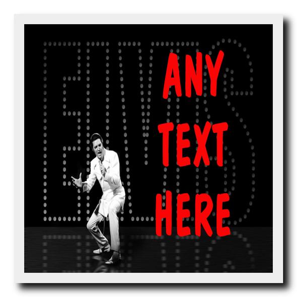 Black Elvis Presley Personalised Drinks Mat Coaster
