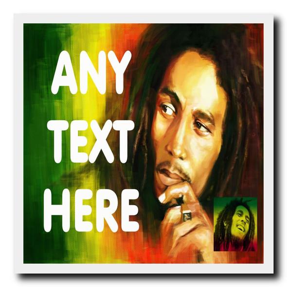 Bob Marley Personalised Drinks Mat Coaster