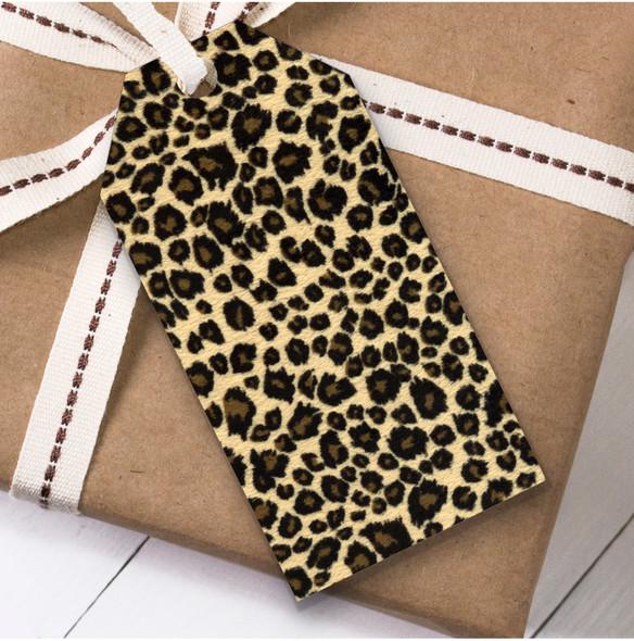 Leopard Print Birthday Present Favor Gift Tags