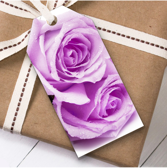 Lilac Roses Birthday Present Favor Gift Tags