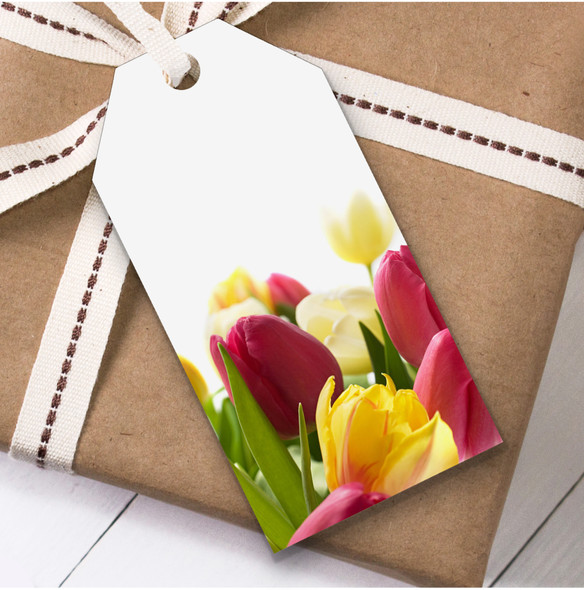 Tulips Birthday Present Favor Gift Tags