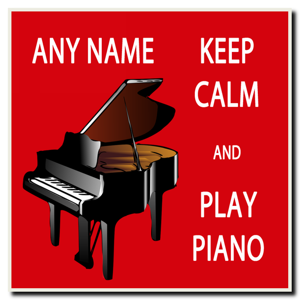Keep Calm And Love Play Piano Personalised Drinks Mat Coaster