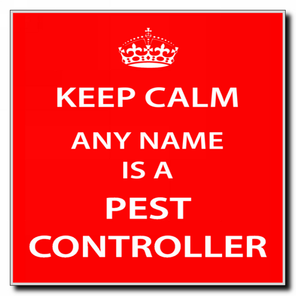 Pest Controller Personalised Keep Calm Coaster