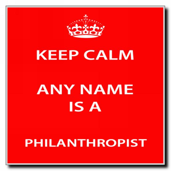 Philanthropist Personalised Keep Calm Coaster