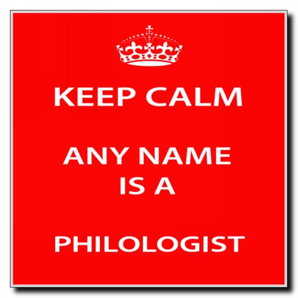 Philologist Personalised Keep Calm Coaster