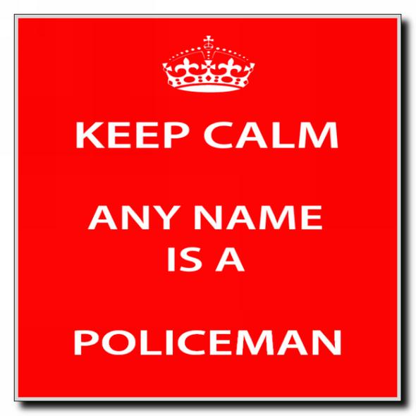 Policeman Personalised Keep Calm Coaster