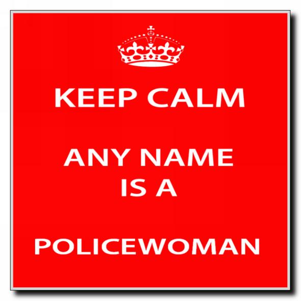 Policewoman Personalised Keep Calm Coaster