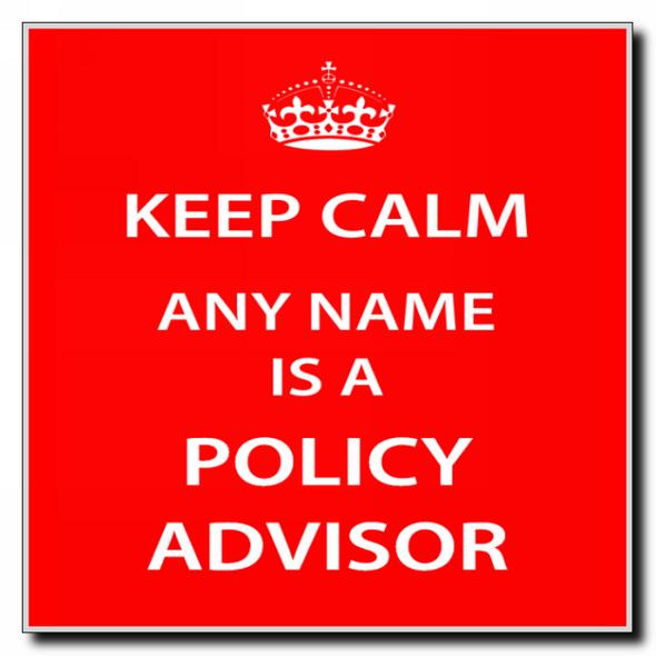 Policy Advisor Personalised Keep Calm Coaster