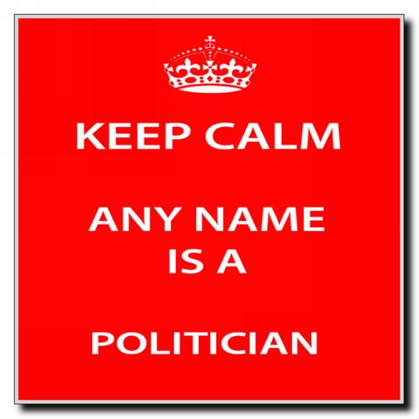 Politician Personalised Keep Calm Coaster
