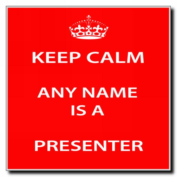 Presenter Personalised Keep Calm Coaster