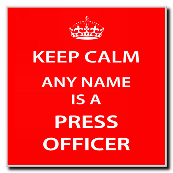 Press Officer Personalised Keep Calm Coaster